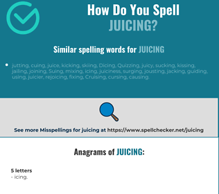 Correct spelling for juicing