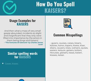 Correct spelling for Kaisers