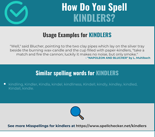 Correct spelling for kindlers