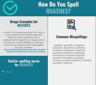 Correct spelling for quashes