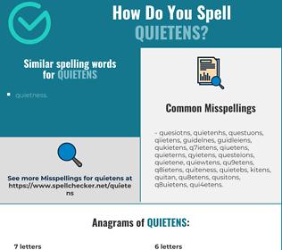 Correct spelling for quietens