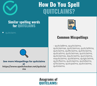 Correct spelling for quitclaims