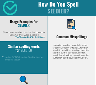 Correct spelling for seedier