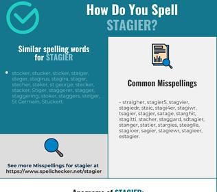 Correct spelling for stagier