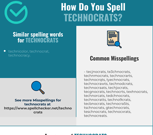 Correct spelling for technocrats