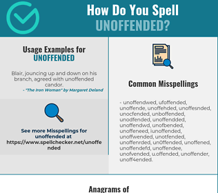 Correct spelling for unoffended