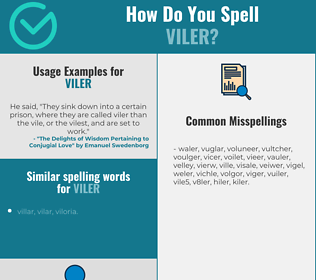Correct spelling for viler