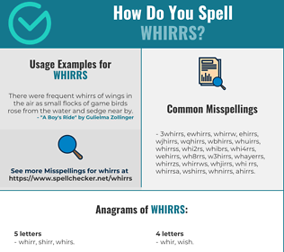 Correct spelling for whirrs
