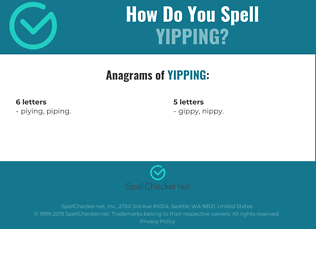 Correct spelling for yipping