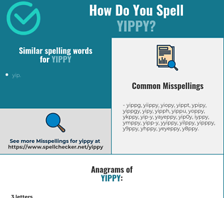Correct spelling for yippy