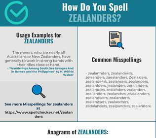 Correct spelling for Zealanders
