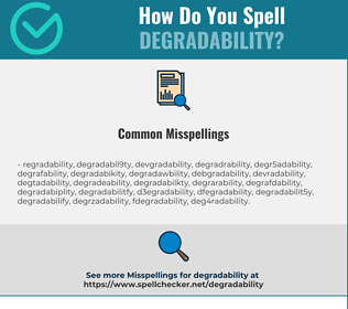 Correct spelling for degradability