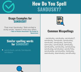 Correct spelling for Sandusky