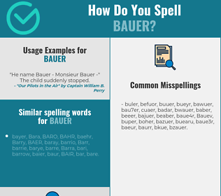 Correct spelling for Bauer