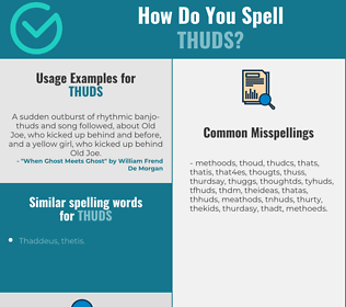 Correct spelling for thuds