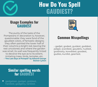Correct spelling for gaudiest