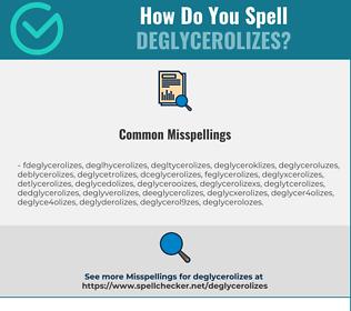 Correct spelling for deglycerolizes