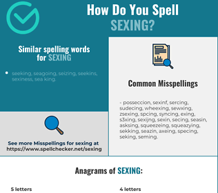 Correct spelling for sexing