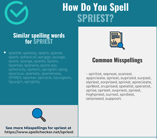 Correct spelling for spriest