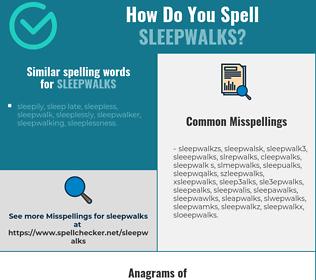Correct spelling for sleepwalks