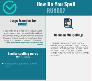 Correct spelling for rungs