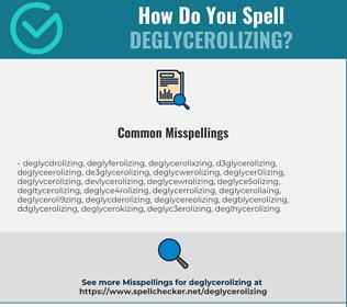 Correct spelling for deglycerolizing
