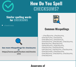 Correct spelling for checksums