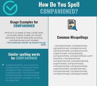 Correct spelling for companioned