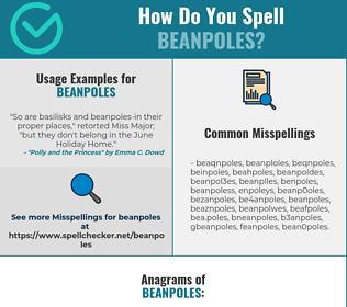 Correct spelling for beanpoles