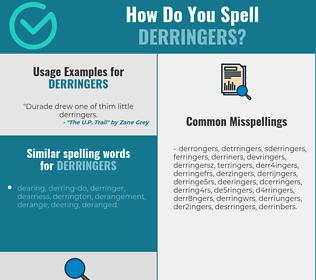 Correct spelling for derringers