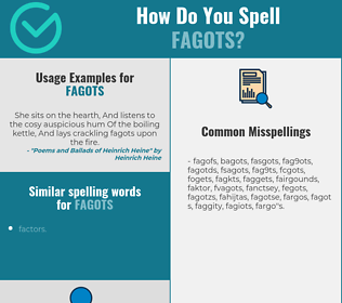 Correct spelling for fagots