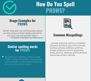 Correct spelling for prows
