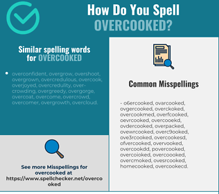 Correct spelling for overcooked