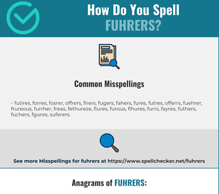 Correct spelling for fuhrers