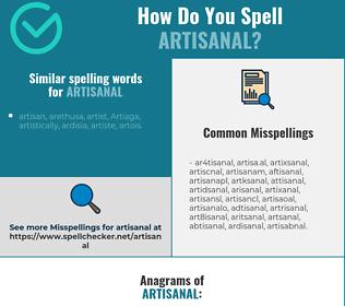Correct spelling for artisanal