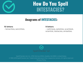 Correct spelling for intestacies