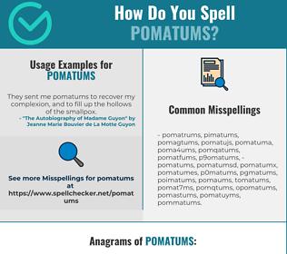 Correct spelling for pomatums