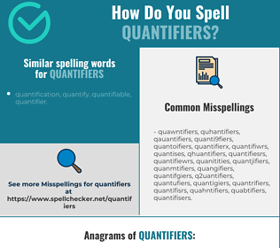 Correct spelling for quantifiers