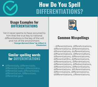 Correct spelling for differentiations