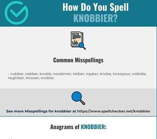 Correct spelling for knobbier