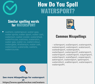 Correct spelling for watersport