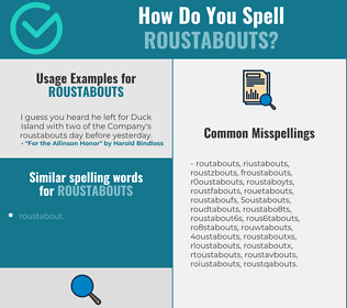 Correct spelling for roustabouts