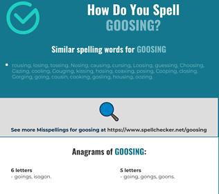 Correct spelling for goosing