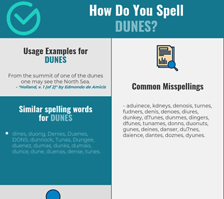 Correct spelling for dunes