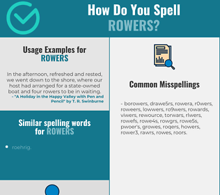 Correct spelling for rowers