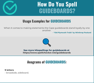 Correct spelling for guideboards
