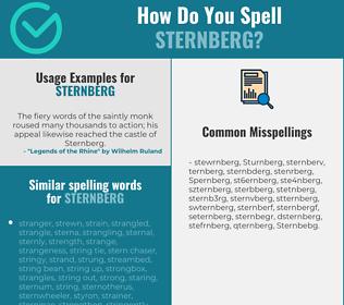Correct spelling for Sternberg