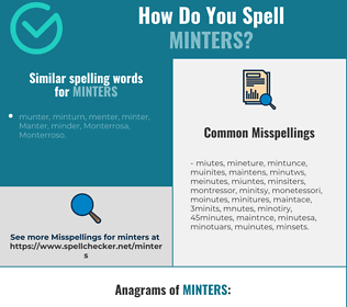 Correct spelling for minters