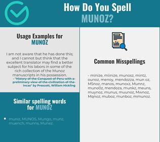 Correct spelling for Munoz