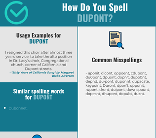 Correct spelling for DuPont